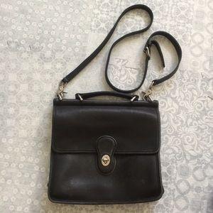 Vintage black coach crossbody bag